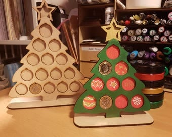 MDF Christmas Tree Coin Holder