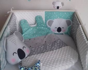 Bumper and baby KOALA Mint sleeping bag