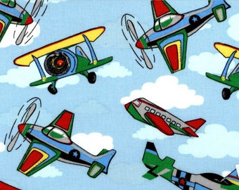 Planes in the Sky Fabric | Kids Time Range