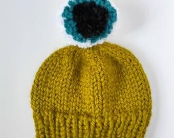 monster hat, monster beanie, alien beanie, eyeball hat, custom monster hat, childrens halloween hat, kids halloween costume, alien hat