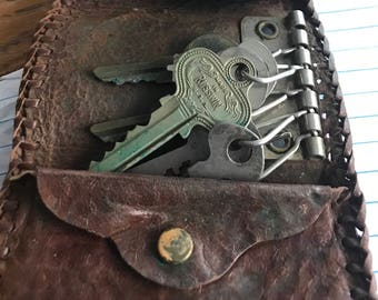 Vintage key and coin purse