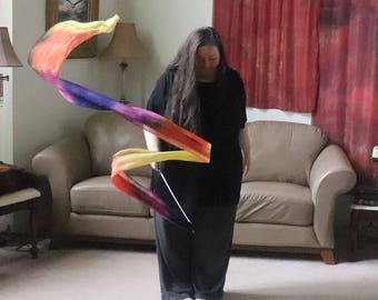 Prophetic - Silk Flag - Worship Flag - Praise Dance - Dyed Silk - 3 yard Streamer* called Spirit of Adoption