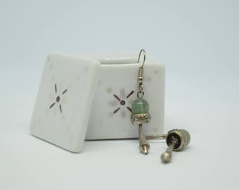 Small porcelain hand painted jewelry box