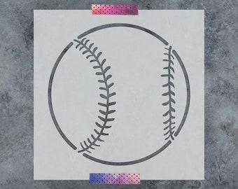 Baseball Stencil - Reusable DIY Craft Stencils of a Baseball