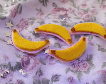 Banana Felt Pin