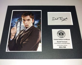 David Tennant - Dr Who - Signed Autograph Display - Fully Mounted and Ready To Be Framed v2