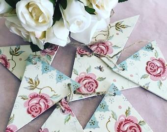 Bunting Rose & Bee Emma Bridgewater style