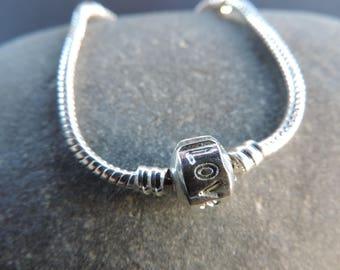 Mesh snake silver bracelet