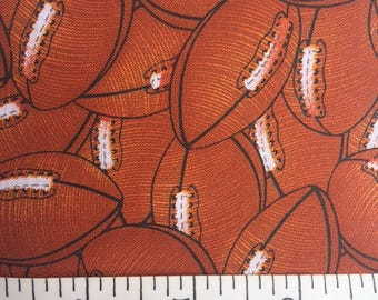 Football Fat Quarters,  Brown and White
