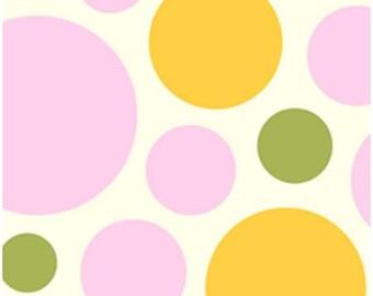 1 Yard Free Spirit Fabrics Heather Bailey Nicey Jane Dream Dot in Clementine