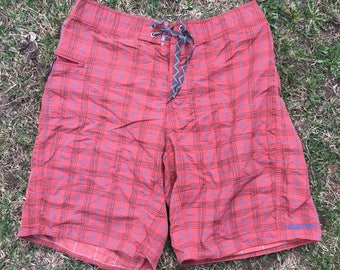 Patagonia Shorts Size 32 Mens Hiking Plaid Outdoors Van Life Vintage Style Board Shorts Trunks
