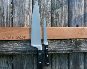 Personalized Knife Holder. Free Engraving! Magnetic Knife Rack.