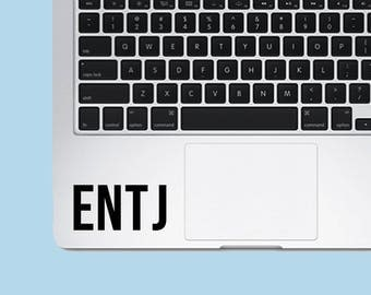 ENTJ Decal Sticker - Myers-Briggs Decal - Laptop Decal - Laptop Sticker - Macbook Sticker - Vinyl Sticker - Car Decal - iPad Decal