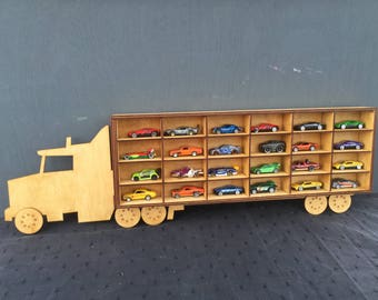 Toy Car Storage Truck Lorry Perfect for up to 24 Hot Wheels Cars