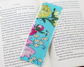 Teal Floral Bookmark
