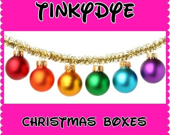 Yarn Advent Calendar TinkyDye Christmas Box Sparkle Merino sock weight