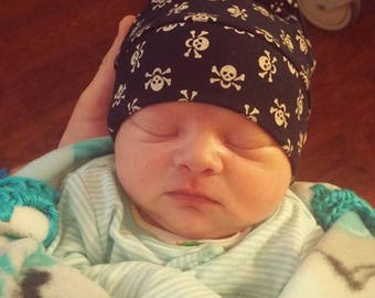 Skull Newborn Beanie Gothic Punk