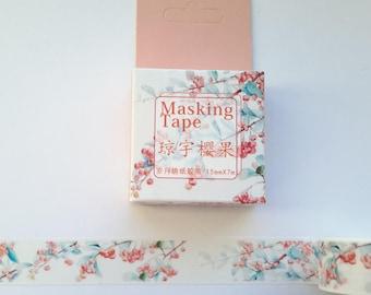 floral washi tape, #11, washi tape, MT, 15 mm x 7 m, washi, tape