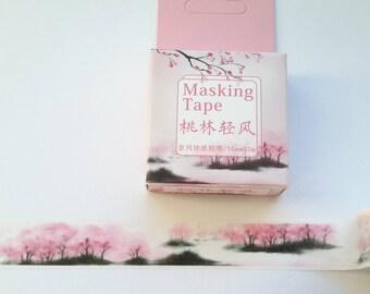 landscape washi tape, # 12, washi tape, washi, tape, MT, 15 mm x 7 m,