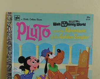 A Little Golden Book Walt Disney World Pluto And The Adventures Of The Golden Sceptor D124 1972