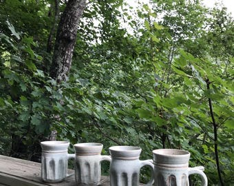 Green Sided Mugs