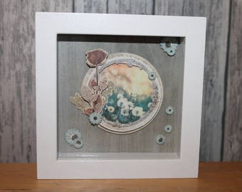 Flowers and fields - decorative embossed frame
