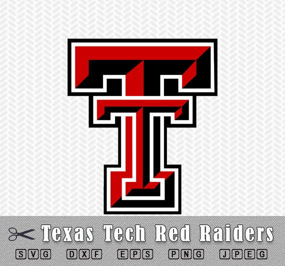 svg png texas tech red raiders logo layered vector cut file