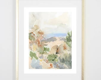 Desert art Print/ ocean / Watercolor / Gifts for her / Home Decor / Gift for mom / Nature Decor/ Farmhouse art/ house warming gift