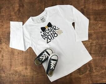 New Years Shirt, Mr. 2018 shirt, personalized shirt