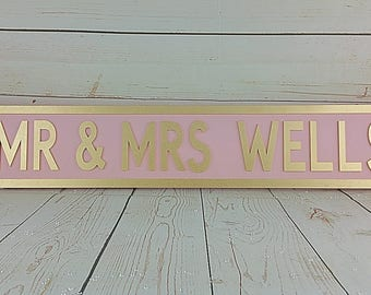 Personalised Freestanding Street Sign Any Name Gift Idea