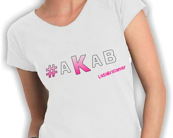 Women's V neck t shirt akab