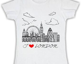 T shirt woman I love london