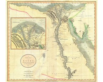 Egypt; Antique Map by Cary 1805
