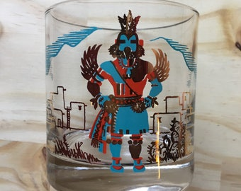 6 Couroc of Monterey Kachina Rocks/Lowball Glasses // Set of 6 // 1970's