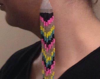 Custom Native American style beaded earrings