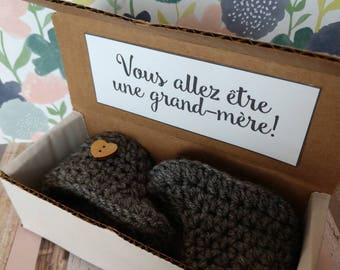 Pregnancy Announcement French Grandma, French Pregnancy, New Grandma French, Canadian Grandma, French Baby Reveal, Fast Shipping