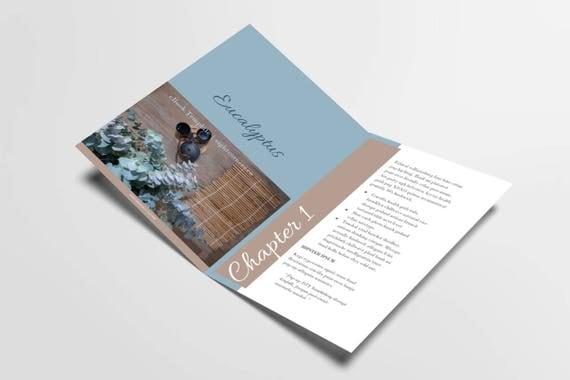 eBook Template | Eucalyptus Fresh | Customizable eBook Template | Google Docs / Windows Word DOCX / Mac Pages / A4 / Letter Available