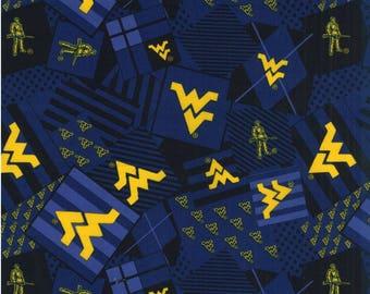 West Virginia University/Mountaineer Cotton Fabric