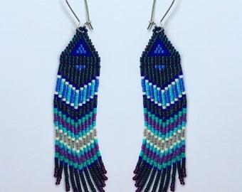 Boho Beaded  Fringe Earrings