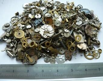 Best price! About 10.7 cent per 1 gramm! / GEARS Mix Vintage / Clock / Pocket watch parts STEAMPUNK  Steam Punk watch pieces Supplies 840g
