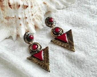 CLEOPATRA Earrings in Red