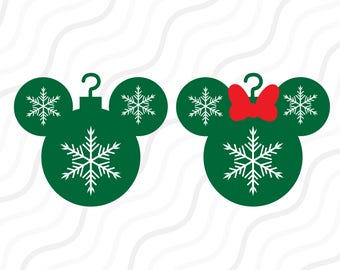 Disney Mickey Christmas SVG,Mickey ornament svg, Christmas SVG Cut table Design,svg,dxf,png Use With Silhouette Studio & Cricut_Instant Down
