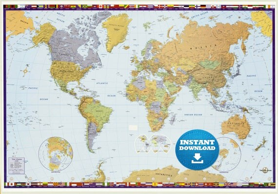 Digital modern world map hight printable download large digital modern world map hight printable download large world map digital printable map high resolution world mapanadastralia gumiabroncs Choice Image