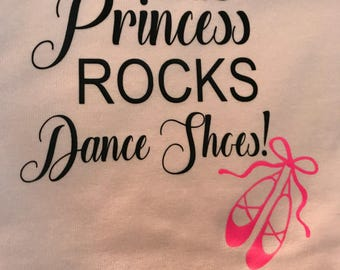 This princess rocks dance shoes!
