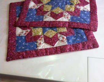 2 cushion covers, Patworktechnik, handmade