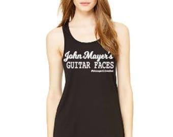 Custom John Mayer Guitar Faces Flowy Tank