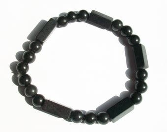 Black Serpentine Mens Stretch Bracelet