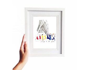 Dion • Art Print   Fashion Illustration