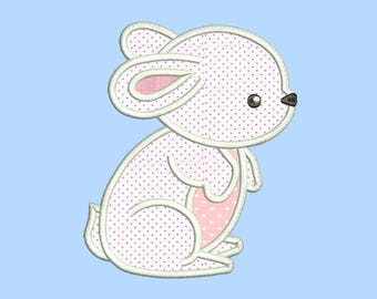Rabbit Applique Design 9 sizes included.Machine embroidery design. Baby Embroidery design PES,Kid Embroidery, embroidery design,Applique