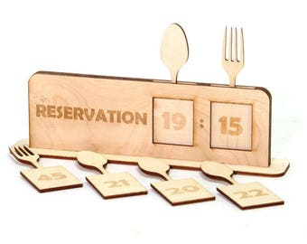 Timed Reservation Sign.  Restaurant. Pub. Personalise. - TRLO